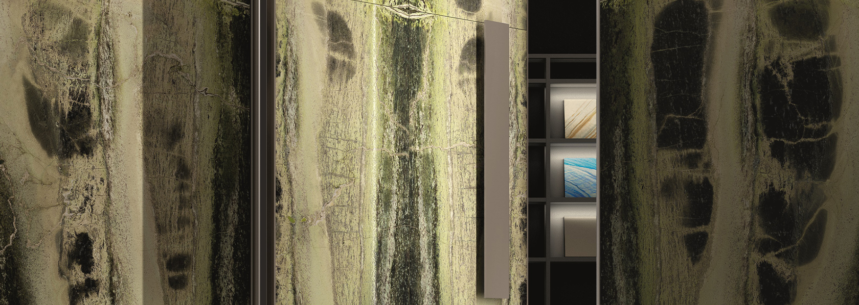 Antolini covered Oikos entrance architectural solutions at Cersaie 2019 - Oikos